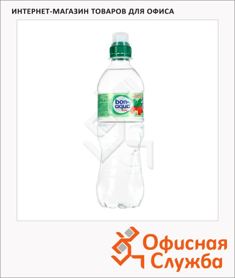 Вода питьевая Bon Aqua Viva без газа, 0.5л, ПЭТ, земляника/мята