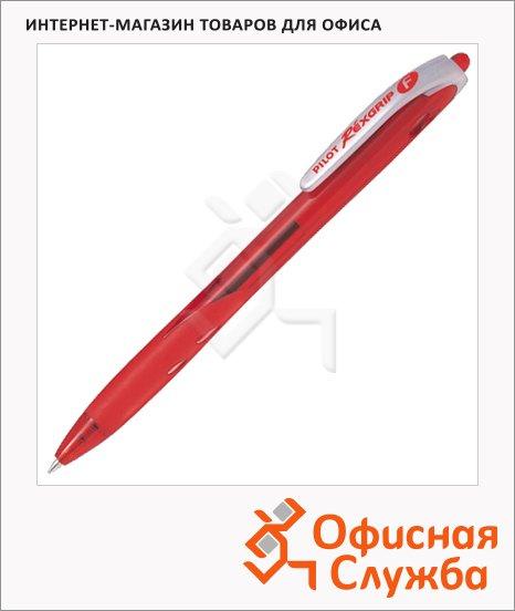 Ручка шариковая автоматическая Pilot Rex Grip красная, 0.32мм