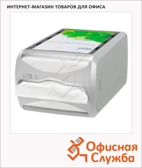Диспенсер для салфеток Tork Interfold 272513, серый, 19.9х14.5х29.3см, на 400шт