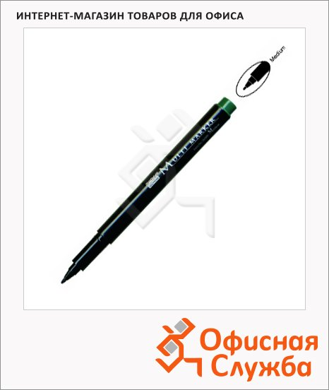 Маркер для CD перманентный Marvy Multi Marker зеленый, 0.3-0.5мм, игольчатый наконечник