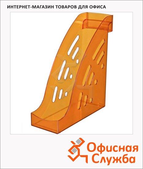 Накопитель вертикальный для бумаг Стамм Торнадо А4, 95мм, манго, ЛТ409