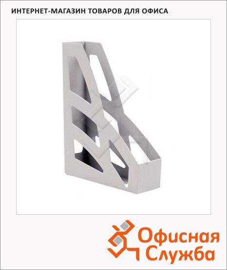 Накопитель вертикальный для бумаг Стамм Лидер А4, 70мм, 2шт, серый, ЛТ127