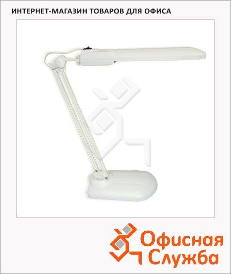 Светильник настольный Трансвит Дельта белый, на подставке, люминесцентный