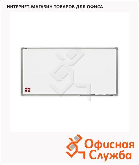 Доска-перегородка модерационная 2x3 TMS 126 120х60см, лаковая, белая, двусторонняя, алюминиевая рама