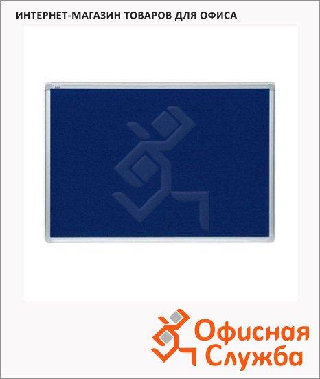 Доска-перегородка модерационная 2x3 TMT 129 120х90см, синяя, текстильная, алюминиевая рама, двусторонняя
