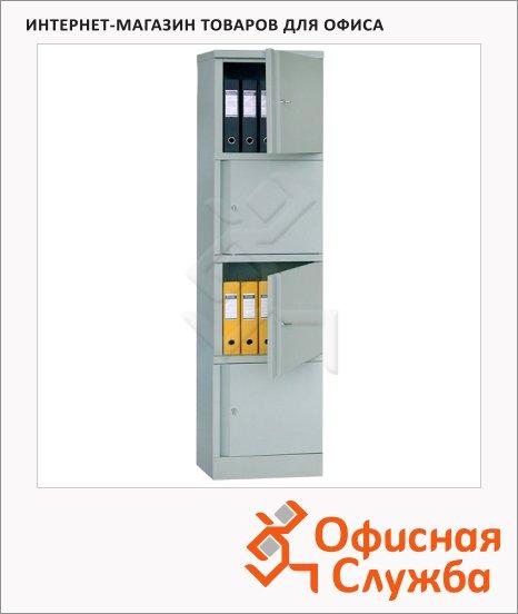 Шкаф металлический для документов Практик AM 1845/4 1830x472x458мм