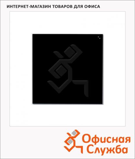 Доска магнитная маркерная стеклянная Naga 10773 45х45см, черная