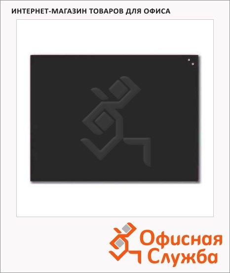 фото: Доска магнитная маркерная стеклянная 10360 80х60см черная