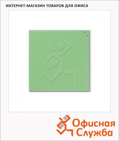 Доска магнитная маркерная стеклянная Naga 10773 45х45см, светло-зеленая