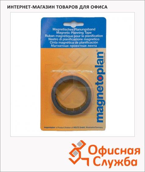 Лента магнитная для магнитной доски Magnetoplan 1мх10мм, желтая, 1261002