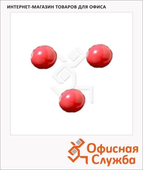 фото: Магниты Super Strong d=10 мм 3шт, красные, 20301