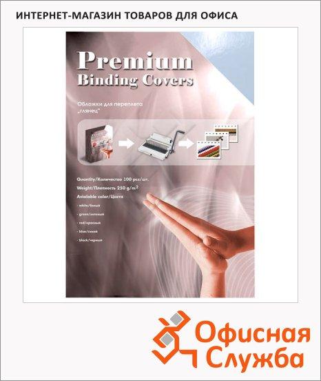 фото: Обложки для переплета картонные Office Kit CS253LUX белые А3, 250 г/кв.м, 100шт