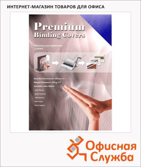 фото: Обложки для переплета картонные Office Kit CS253LUX темно-синие А3, 250 г/кв.м, 100шт, GDBA300250