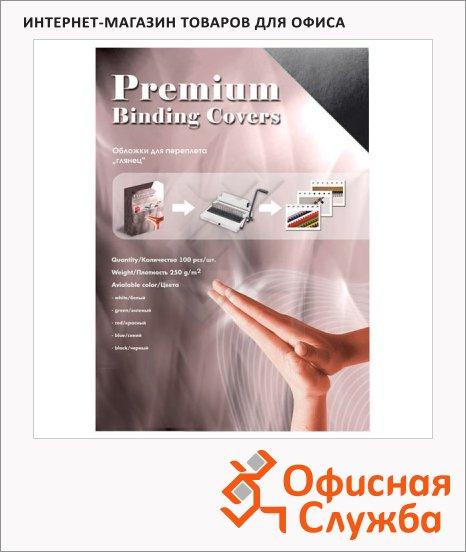 фото: Обложки для переплета картонные Office Kit CS253LUX черные А3, 250 г/кв.м, 100шт, GBKA300250