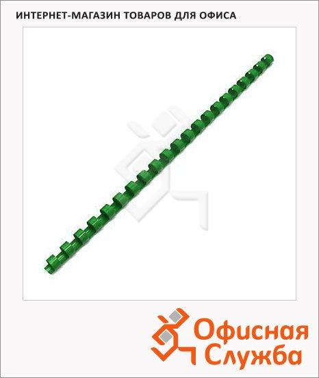 фото: Пружины для переплета пластиковые Office Kit зеленые на 1-15 листов, 4.5мм, 100шт, кольцо, BP2139