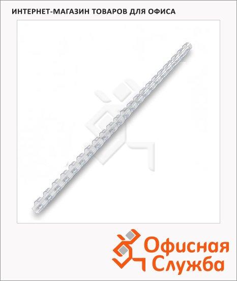 Пружины для переплета пластиковые Office Kit прозрачные, на 1-15 листов, 4.5мм, 100шт, кольцо, BP2134