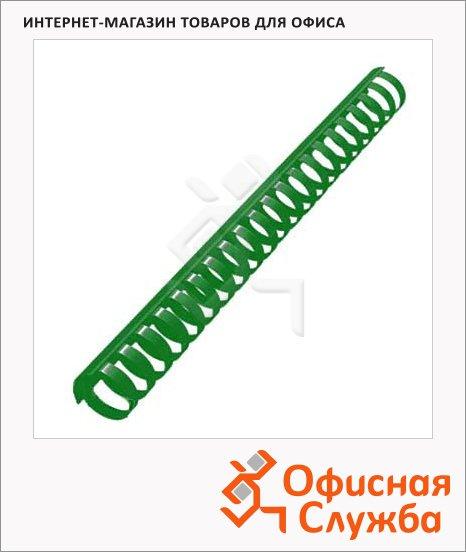 Пружины для переплета пластиковые Office Kit зеленые, на 240-270 листов, кольцо, 28мм, 50шт, 202047541