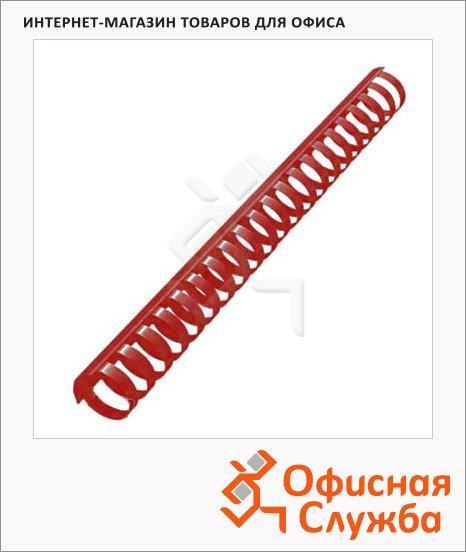 фото: Пружины для переплета пластиковые Office Kit красные на 240-270 листов, кольцо, 28мм, 50шт, BP211010