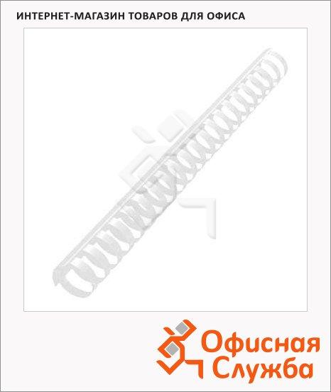 фото: Пружины для переплета пластиковые Office Kit прозрачные на 240-270 листов, кольцо, 28мм, 50шт, BP2148