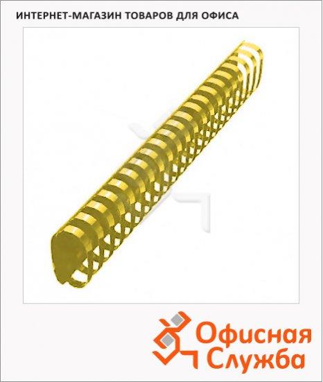 фото: Пружины для переплета пластиковые Office Kit желтые на 300-350 листов, овал, 45мм, 50шт, BP2167