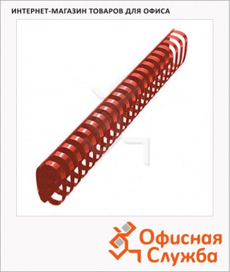 фото: Пружины для переплета пластиковые Office Kit красные на 300-350 листов, овал, 45мм, 50шт, 20204751