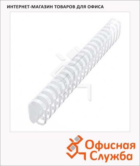 Пружины для переплета пластиковые Office Kit прозрачные, на 300-350 листов, овал, 45мм, 50шт, BP2151