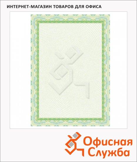 фото: Сертификат-бумага Decadry зеленая спираль А4, 115г/м2, 25 листов