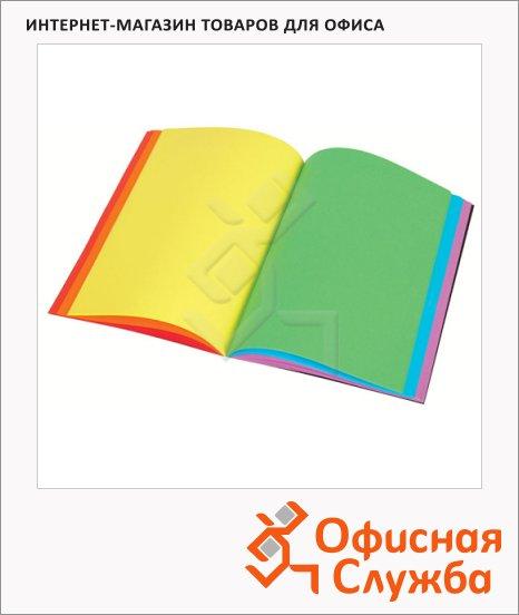 Блокнот Viquel А5, нелинованный, на сшивке, с цветными страницами, 90 листов, ламинированный картон