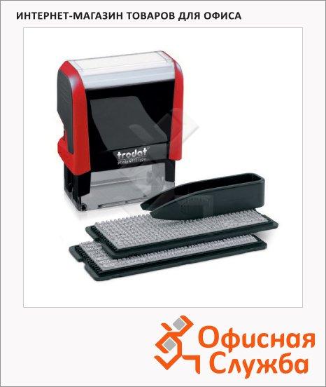 Штамп прямоугольный самонаборный Trodat Printy Typomatic 4 строки, 47х18мм, 4912/DB красный