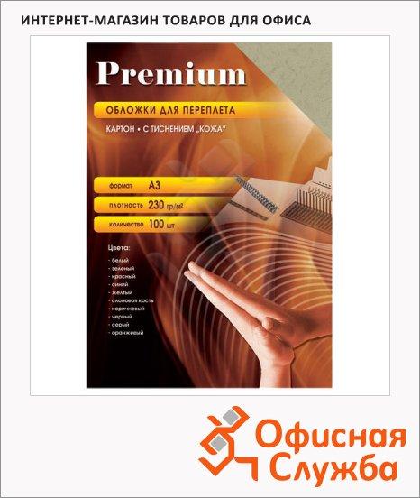 фото: Обложки для переплета картонные Office Kit CWA300230 слоновая кость А3, 230 г/кв.м, 100шт