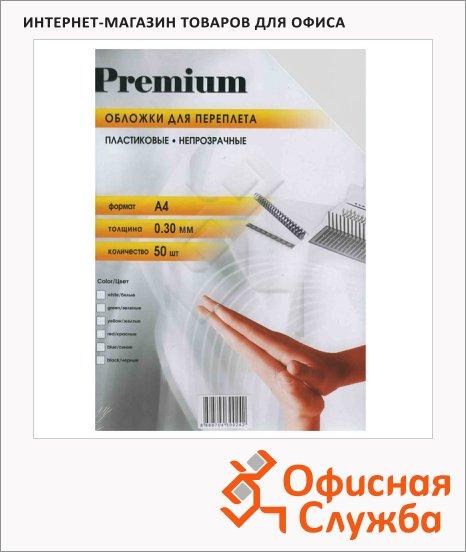 фото: Обложки для переплета пластиковые Office Kit PWMA40030 белые А4, 300 мкм, 50шт
