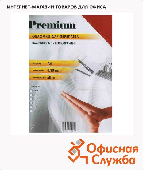 Обложки для переплета пластиковые Office Kit PWMA40030 красные, А4, 300 мкм, 50шт