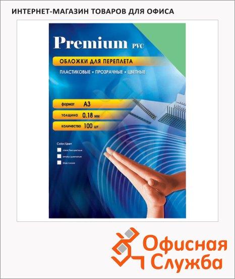 Обложки для переплета пластиковые Office Kit PSA300180 зеленые, А3, 180 мкм, 100шт