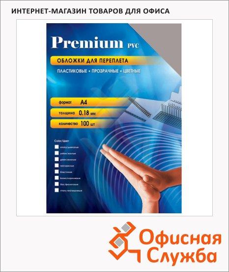 Обложки для переплета пластиковые Office Kit PYA400180 дымчатые, А4, 180 мкм, 100шт