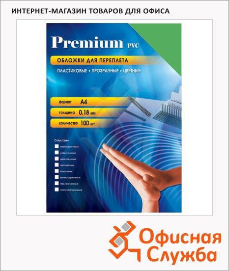 Обложки для переплета пластиковые Office Kit PYA400180 зеленые, А4, 180 мкм, 100шт