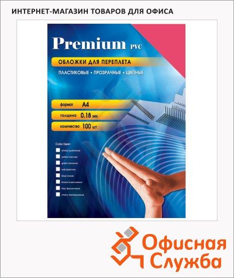 Обложки для переплета пластиковые Office Kit PYA400180 красные, А4, 180 мкм, 100шт