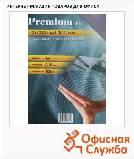 фото: Обложки для переплета пластиковые Office Kit PCMA40180 прозрачные, матовые А4, 180мкм, 100шт