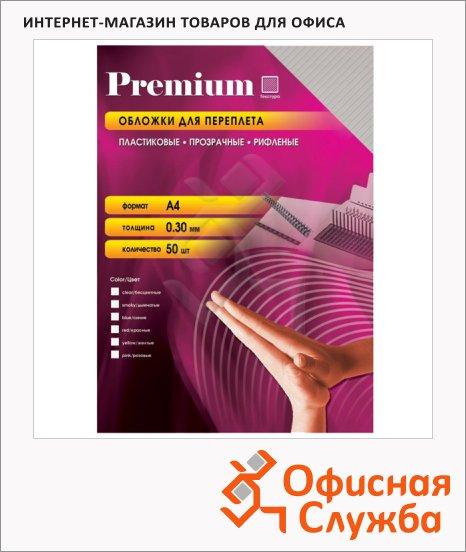 Обложки для переплета пластиковые Office Kit PSRA400030 прозрачные, А4, 300 мкм, 50шт