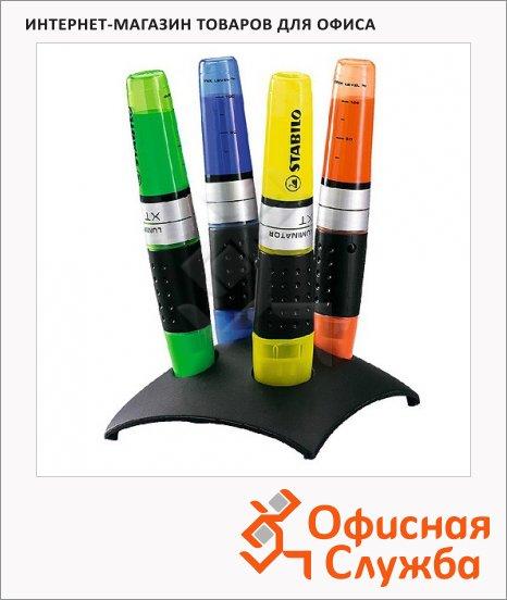 Текстовыделитель Stabilo Luminator набор 4 цвета, 2-5мм, скошенный наконечник