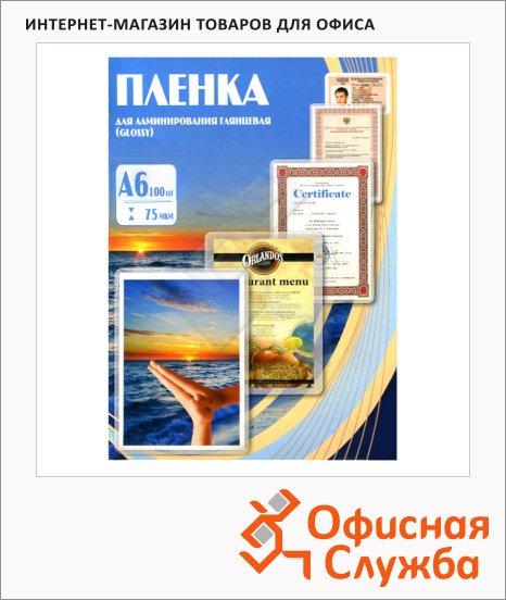 фото: Пленка для ламинирования Office Kit 75мкм 100шт, 111x154мм, глянцевая