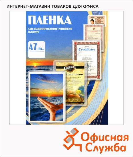 Пленка для ламинирования Office Kit 75мкм, 100шт, 75х105мм, глянцевая