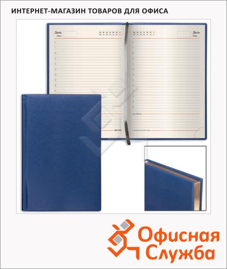 Ежедневник недатированный Brauberg Iguana синий, А5, 160 листов, под зернистую кожу