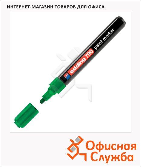 фото: Маркер лаковый Edding 790 зеленый 2-3мм, круглый наконечник, универсальный