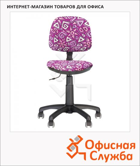 Кресло детское Nowy Styl Swift GTS ткань, с рисунком, крестовина пластик, розовая
