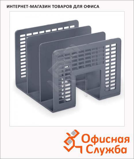 Накопитель вертикальный для бумаг Brauberg Radikal А4, 3 секции, 207мм, серый