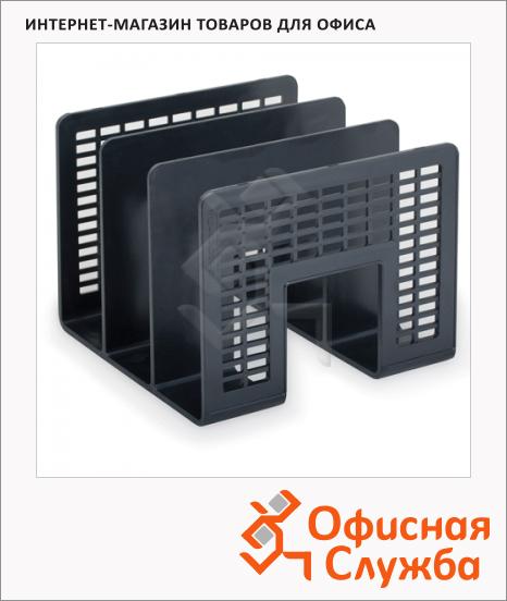 Накопитель вертикальный для бумаг Brauberg Radikal А4, 3 секции, 207мм, черный