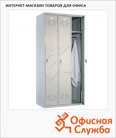 фото: Шкаф для одежды металлический Практик LS-31 1830х850х500мм