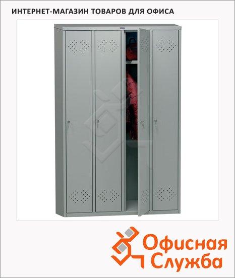 фото: Шкаф для одежды металлический Практик LS-41 1830х1130х500мм