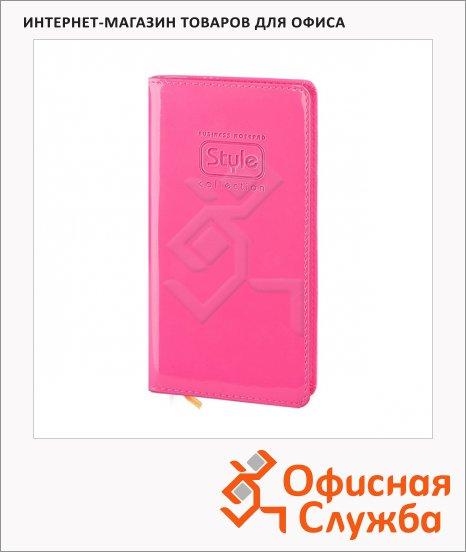 Записная книжка Infolio Style розовая, А6, 96 листов, 9х16см