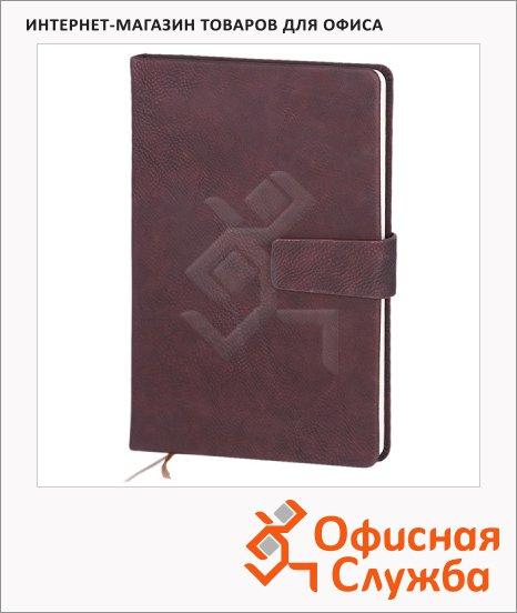 Записная книжка Infolio Gently бордовая, А5, 96 листов, 14х20см
